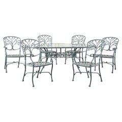 Woodard Heritage Tree of Life Aluminum Garden Dining Set