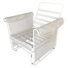 Woodard Mesh Outdoor/Patio Side Glider Rocking Lounge Chair