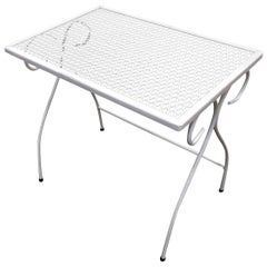 Woodard Mesh Steel Outdoor/Patio Nesting Side Tables - Set of 2, circa 1950