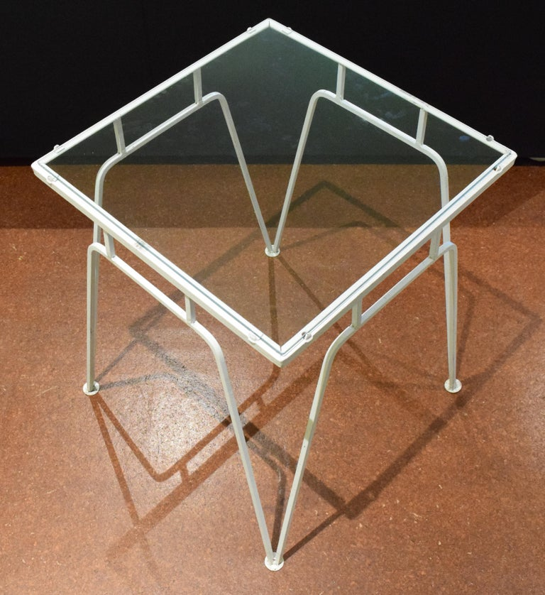 Wrought Iron Woodard Occasional Table For Sale
