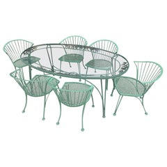 Woodard 'Pinecrest' Garden Set with Six Chairs and Oval Table