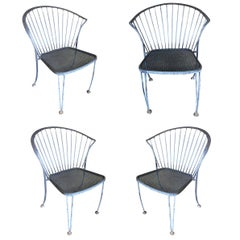 Woodard Pinecrest Iron Patio/Outdoor Lounge Chair, Set of Four