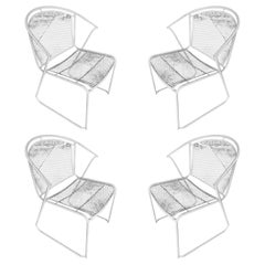 Woodard Pinecrest Mesh Iron Patio/Outdoor Lounge Chair, Set of Four