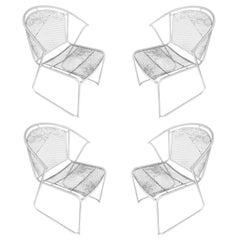 Woodard Pinecrest Mesh Iron Patio/Outdoor Lounge Chair, Set of Four