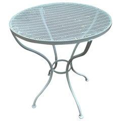 Woodard Round Mesh Steel Outdoor/Patio Side Table, circa 1950