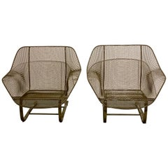 Woodard Sculptural Rocker Chairs, 2 Pairs