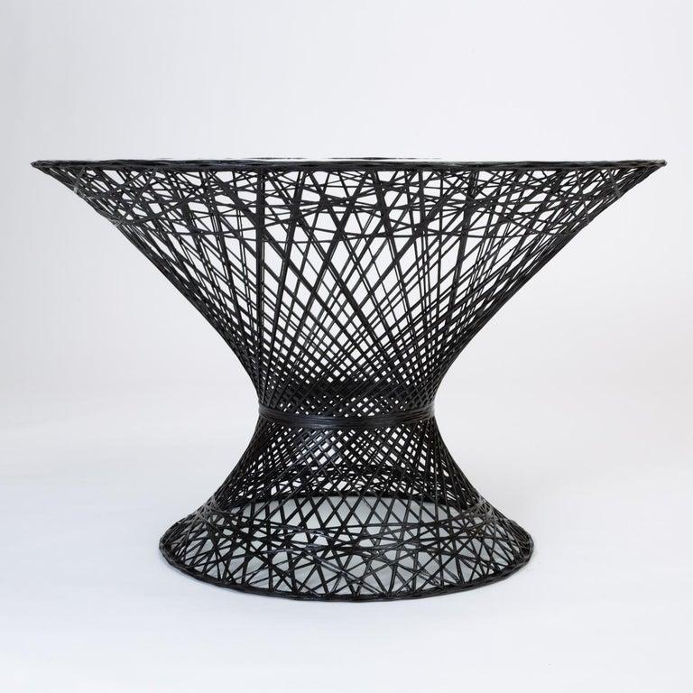 Mid-Century Modern Woodard Spun Fiberglass Patio Dining Table For Sale