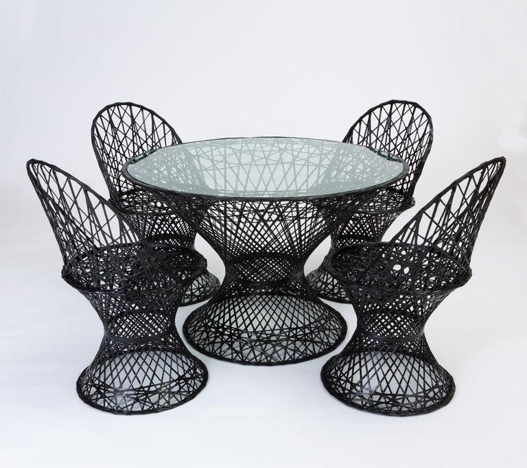 20th Century Woodard Spun Fiberglass Patio Dining Table For Sale