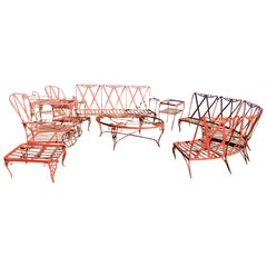 Woodard Vintage Chantilly Rose 10-Piece Patio Set