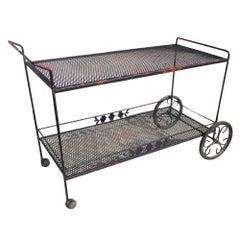 Woodard Wrought Iron Bar Serving Cart