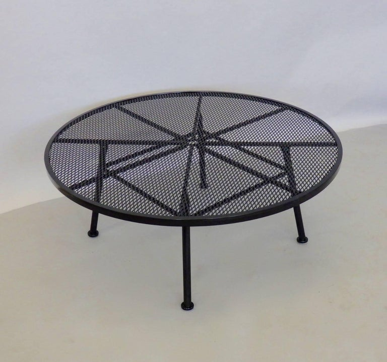 Woodard Wrought Iron Coffee Cocktail Table at 1stdibs