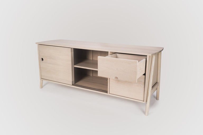 Contemporary Woodbine Sideboard by Sun at Six, Nude, Midcentury Sideboard in Wood For Sale