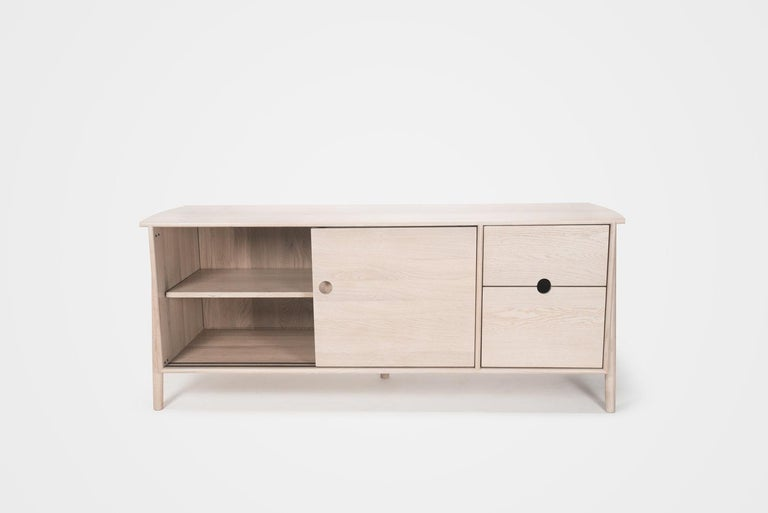 Oak Woodbine Sideboard by Sun at Six, Nude, Midcentury Sideboard in Wood For Sale