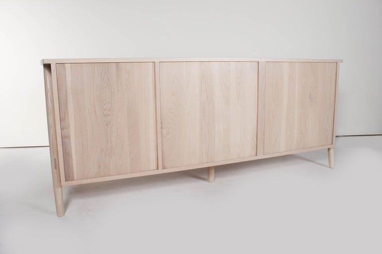 Woodbine Sideboard by Sun at Six, Nude, Midcentury Sideboard in Wood In New Condition For Sale In San Jose, CA