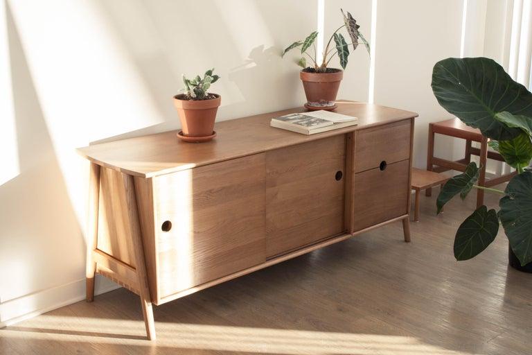 Chinese Woodbine Sideboard, Sienna, Midcentury Sideboard in Wood For Sale