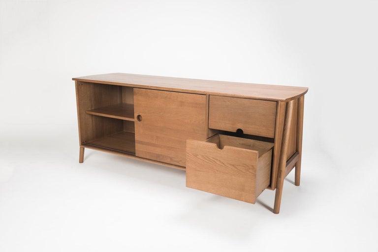 Contemporary Woodbine Sideboard, Sienna, Midcentury Sideboard in Wood For Sale