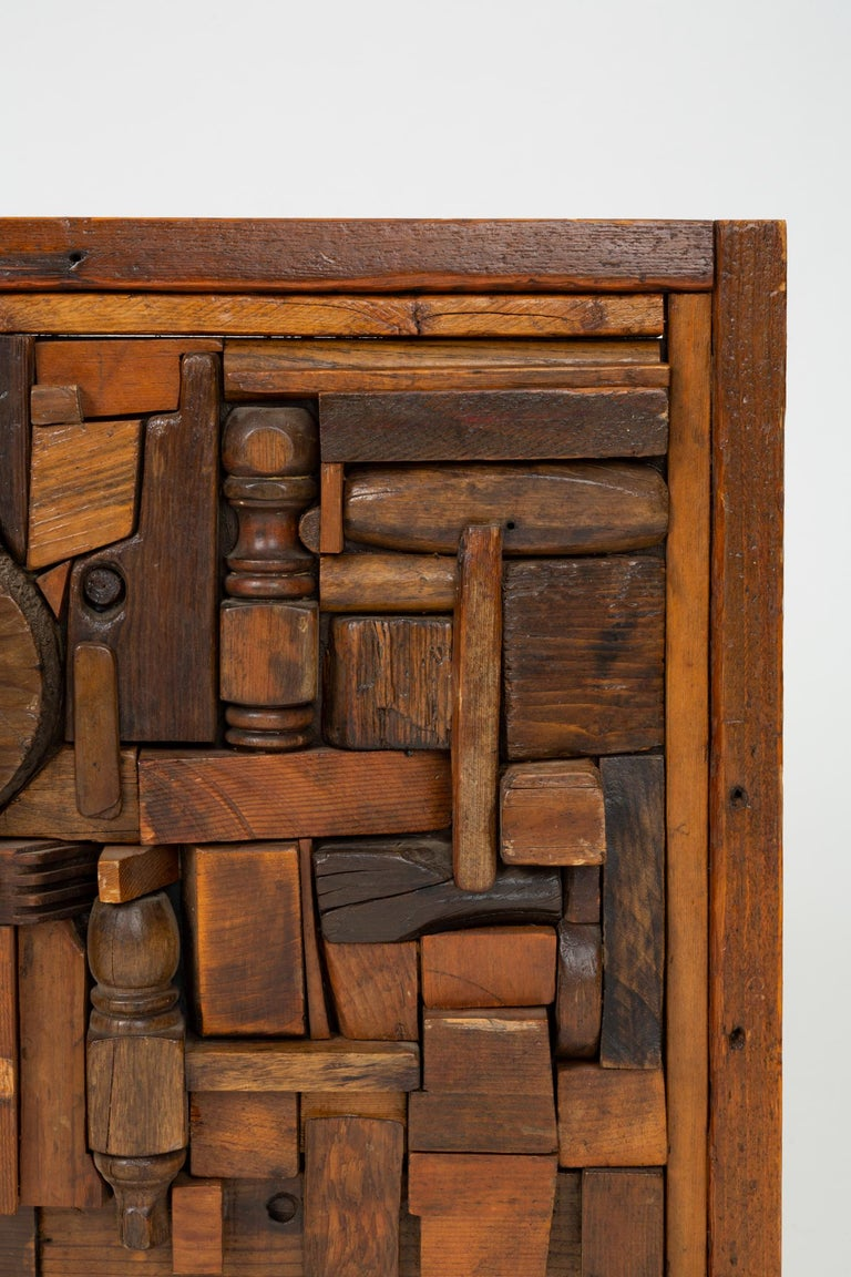 """20th Century Woodblock Assemblage """"Sonny"""" by Francis Schanz For Sale"""