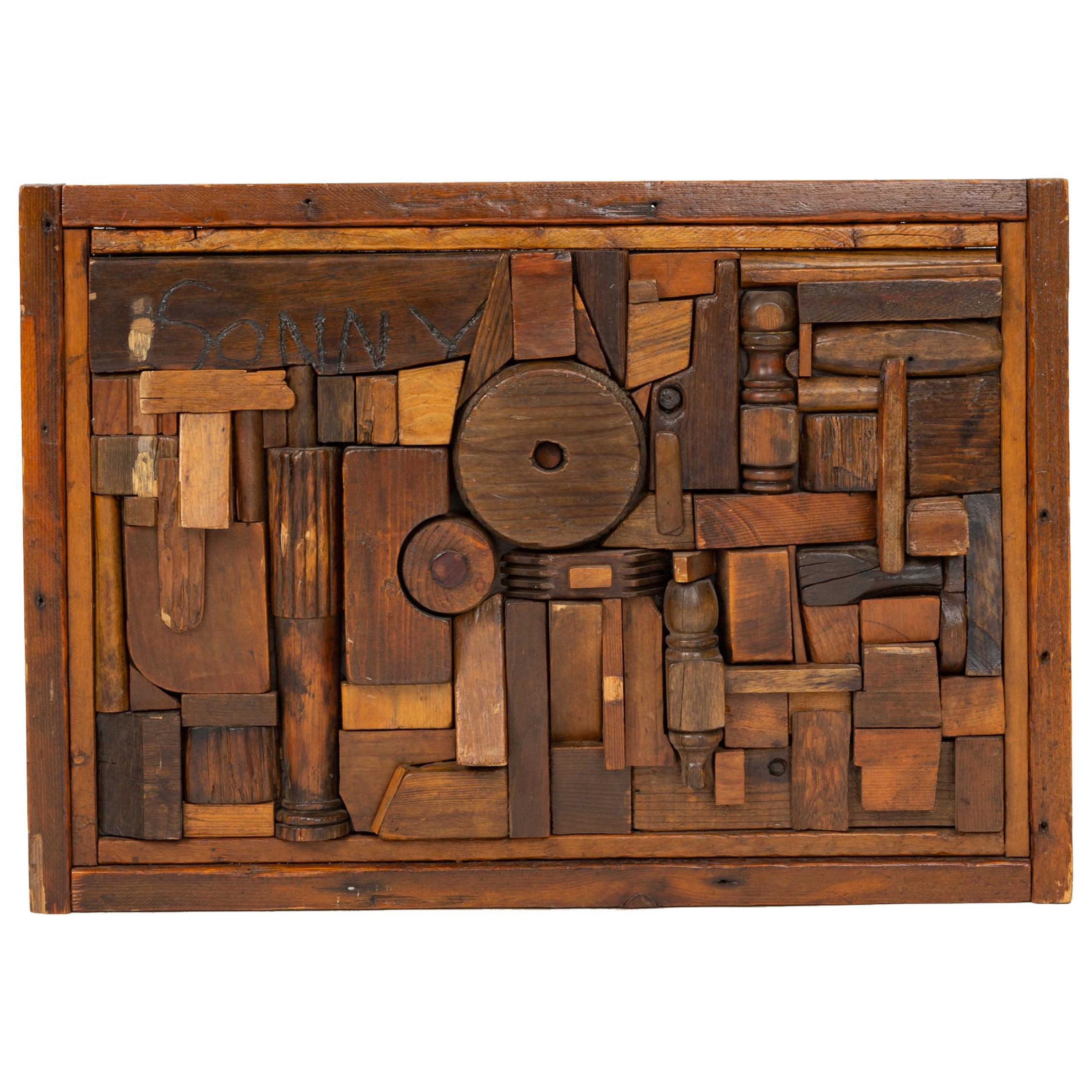 """Francis Schanz """"Sonny"""" Woodblock Assemblage"""