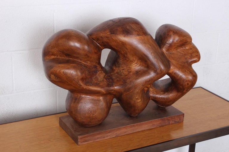 Wooden Abstract Sculpture by Robert Winslow For Sale 8
