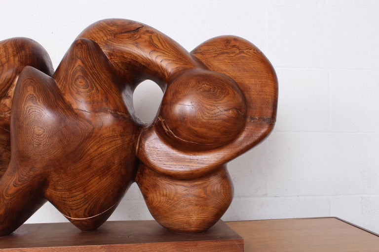 Wooden Abstract Sculpture by Robert Winslow For Sale 2