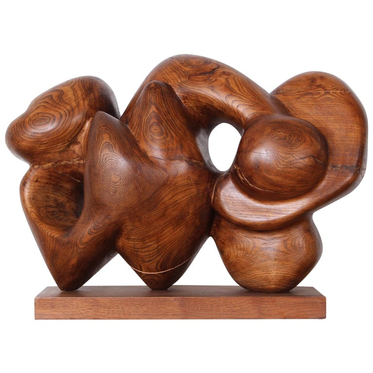 Wooden Abstract Sculpture by Robert Winslow For Sale