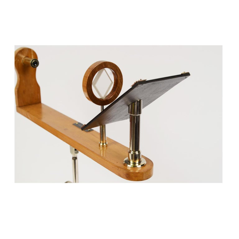 Wooden and Brass Polarimeter with Cast Iron Tripod Base from the Late 1800s For Sale 5