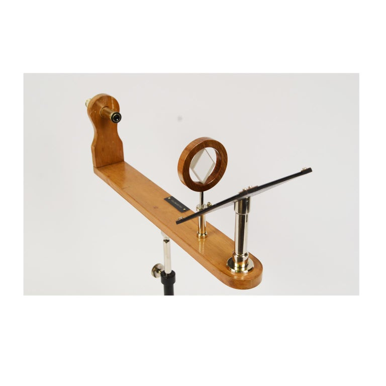 Wooden and Brass Polarimeter with Cast Iron Tripod Base from the Late 1800s For Sale 6