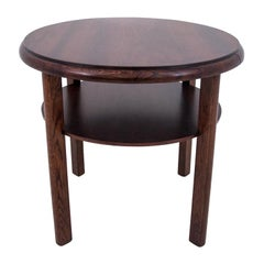 Wooden Antique Round Side Table 1930, After Renovation