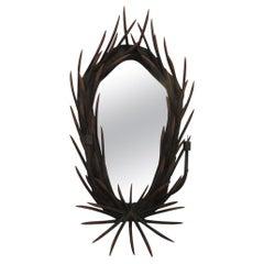 A Large English Antler Mirror At 1stdibs