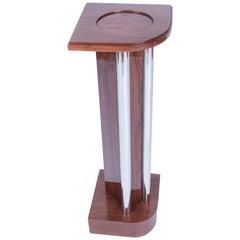 Wooden Art-Deco Pedestal