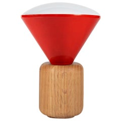 Wooden Base Desk Lamp