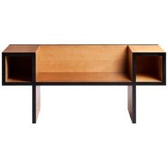 Wooden Bench Canton Model by Franco Raggi for Poltronova, Italy