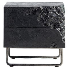 Wooden Black Bedside Table Breakfree Collection, Perfect Item for Your Bedroom