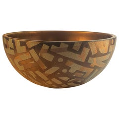 Wooden Bowl Hand Painted