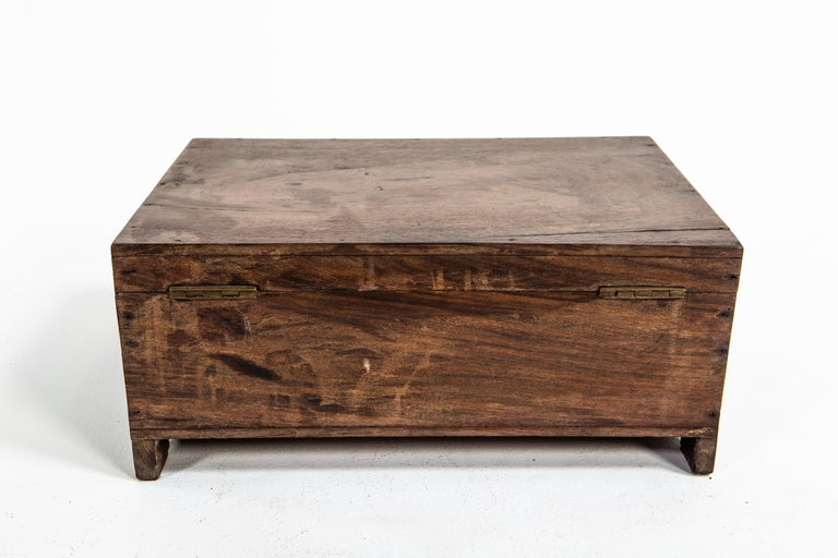 Indian Wooden Box For Sale