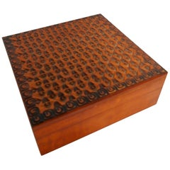 Wooden Box from Poland Hand Carved