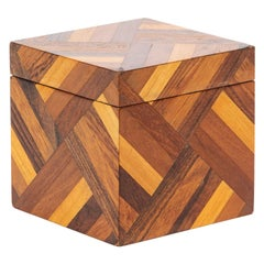 Wooden Box with Geometric Pattern by Don Shoemaker for Senal