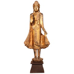Wooden Buddha from 19th Century, Thailand