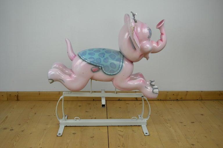 Bernard Kindt Elephant Sculpture for Carousel,  Belgium, 1960s For Sale 9