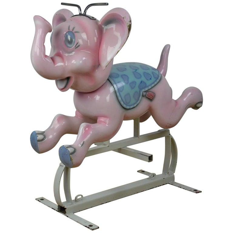 Bernard Kindt Elephant Sculpture for Carousel,  Belgium, 1960s For Sale