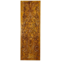 Wooden Carved Panel with Eagle and Gargoiles, Germany, circa 1920