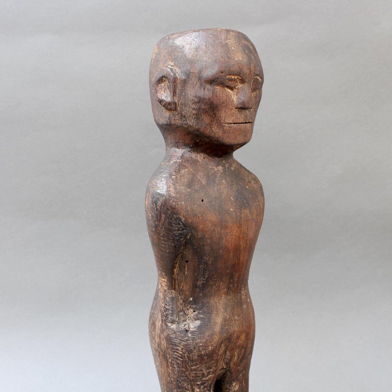 Wooden Carving or Sculpture of Standing Ancestral Figure from Timor, Indonesia For Sale 5
