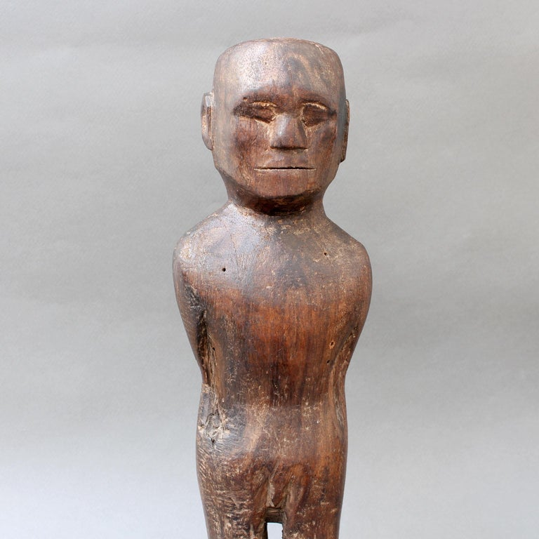 Wooden Carving or Sculpture of Standing Ancestral Figure from Timor, Indonesia For Sale 6
