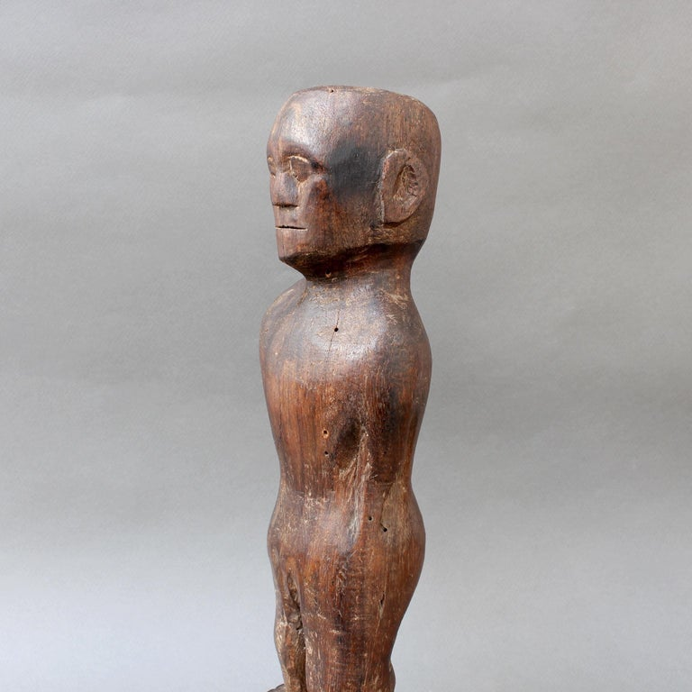 Wooden Carving or Sculpture of Standing Ancestral Figure from Timor, Indonesia For Sale 7