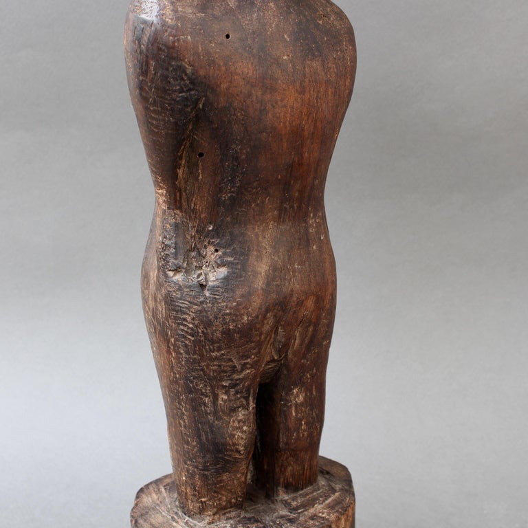 Wooden Carving or Sculpture of Standing Ancestral Figure from Timor, Indonesia For Sale 8