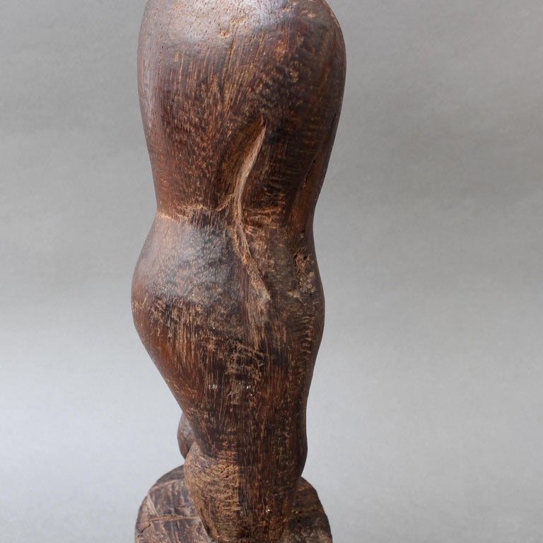 Wooden Carving or Sculpture of Standing Ancestral Figure from Timor, Indonesia For Sale 9