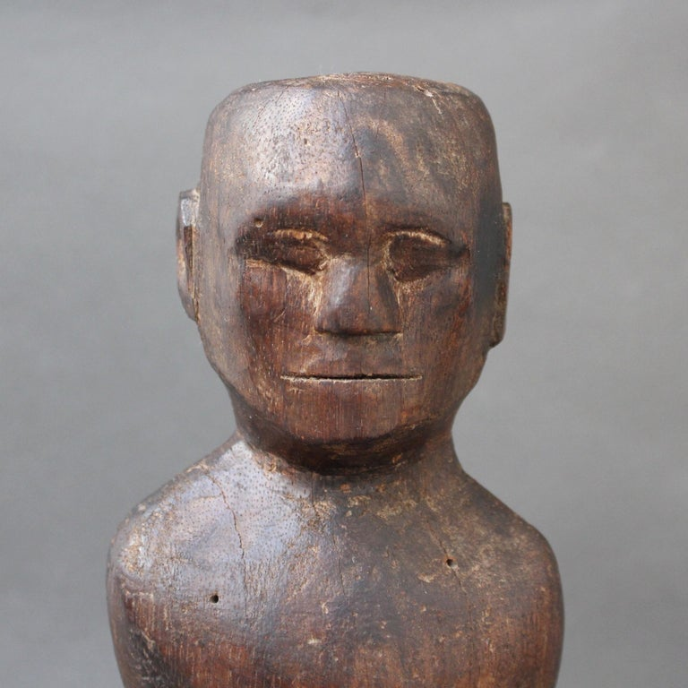 Wooden Carving or Sculpture of Standing Ancestral Figure from Timor, Indonesia For Sale 10