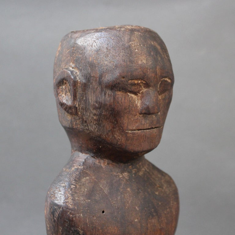 Wooden Carving or Sculpture of Standing Ancestral Figure from Timor, Indonesia For Sale 11