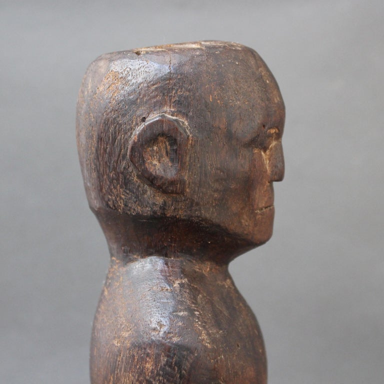 Wooden Carving or Sculpture of Standing Ancestral Figure from Timor, Indonesia For Sale 12