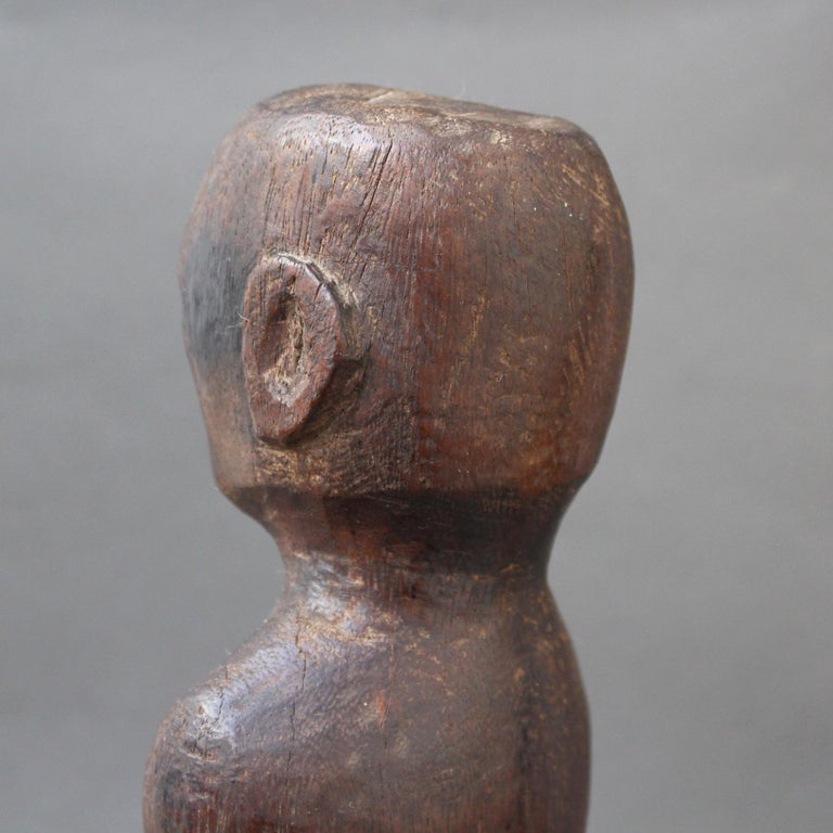 Wooden Carving or Sculpture of Standing Ancestral Figure from Timor, Indonesia For Sale 13